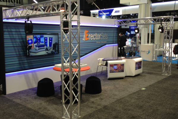 Erector Sets National Association of Broadcasters trade show exhibit